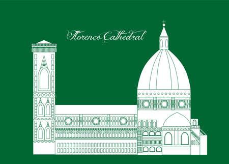 ilustración en el estilo de un diseño plano en el tema de los lugares de interior de nápoles