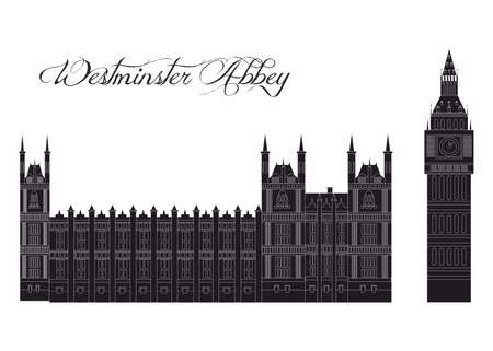 illustration in the style of a flat design on the theme of the sights of UK.