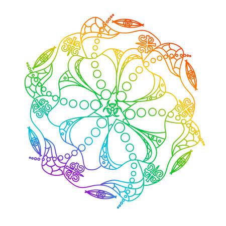 Illustration - Theme of Flower. Stock Illustratie