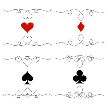A set of card symbols.