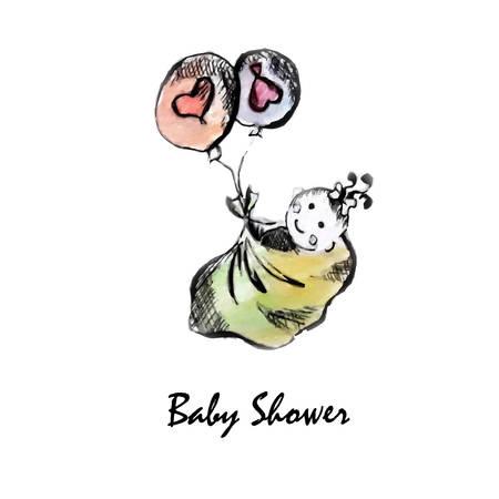 Baby shower art