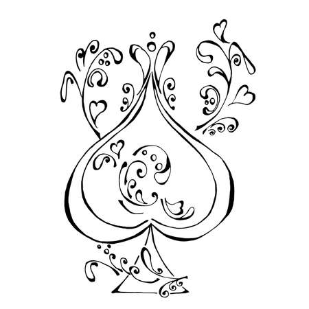 Card of spades - ace.