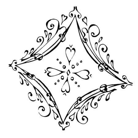 Card of diamonds  - ace.