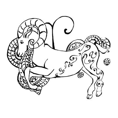 Style of drawing with the sign of the zodiac Ilustração