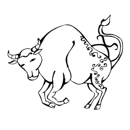 A beautiful image with the sign of the zodiac - taurus. Ilustração