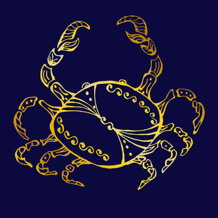 illustration - a beautiful image with the sign of the zodiac - cancer.