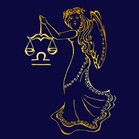 A beautiful image with the sign of the zodiac - libra.