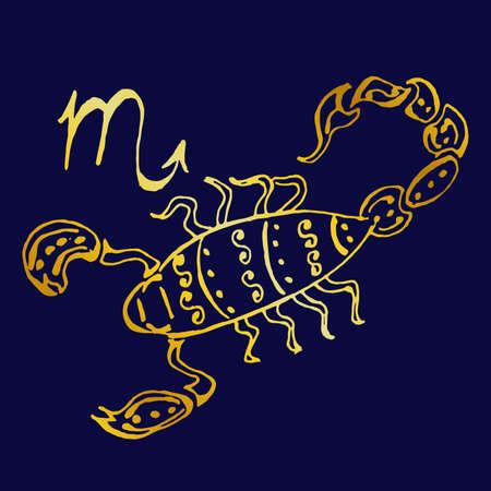 A beautiful image with the sign of the zodiac - Scorpio. Ilustração