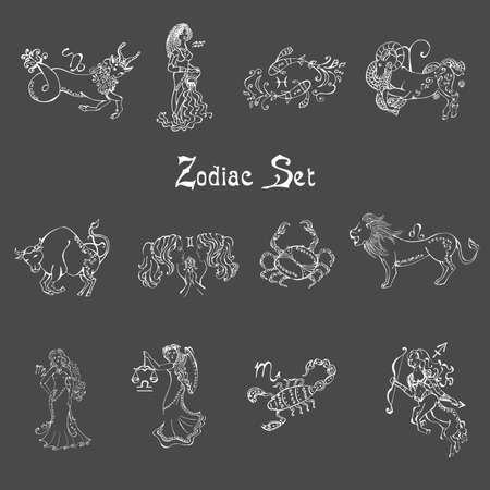 Beautiful image with the sign of the zodiac.