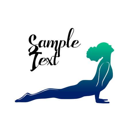 Beautiful girl on a yoga theme. Stock Illustratie