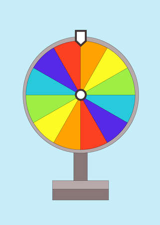 Theme of games and good luck, in the style of material design, wheel of fortune