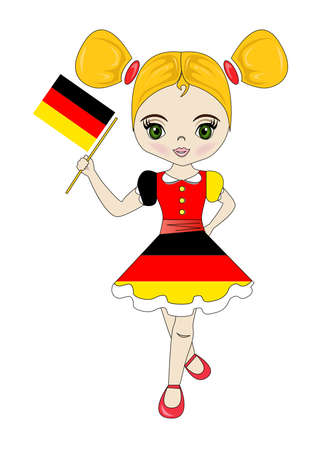 Portrait of a beautiful and lovely girl from the Germany.