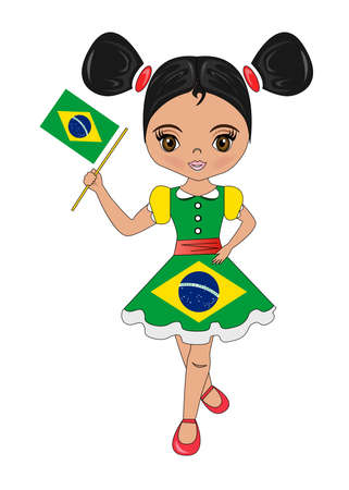 Portrait of a beautiful and lovely girl from the Brazil.