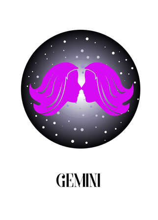 The illustration - zodiac sign on a space