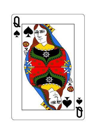 La regina di picche in stile classico.