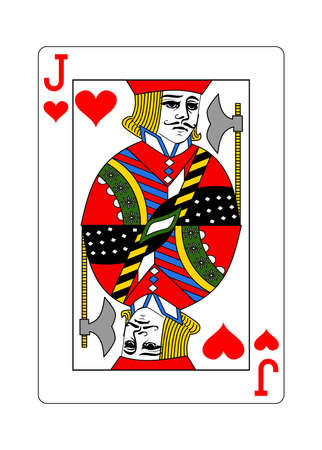 The Jack of Hearts in the classic style.