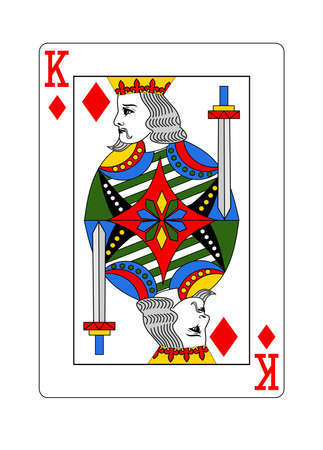 The King of Diamonds in the classic style.