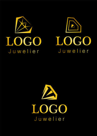 Illustration - logo - on the theme of jewelry and diamonds.