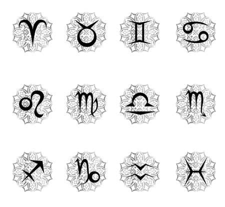Zodiac sign in black color.