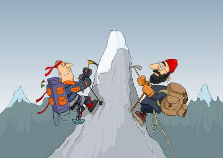 Alpinistes Vecteurs
