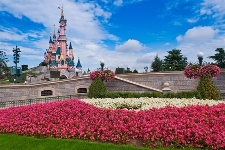 Paris, August 2010: Slepping Beauty Castle - Disneyland Resort Paris