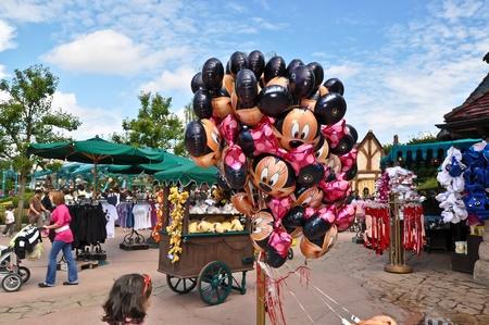 Disneyland Paris, August, 14, 2010 - stalls gadgets and balloons in Disneyland Resort Paris   Editorial