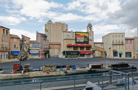 firmeza: Paris - Disney Studios, 08, 13, 2010 - Acción Moteurs Stunt Show Espectacular
