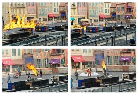 firmeza: París - Disney Studios, 08, 13, 2010 - Moteurs acción Stunt Show espectacular