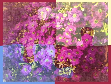 Background or texture with flowers Imagens