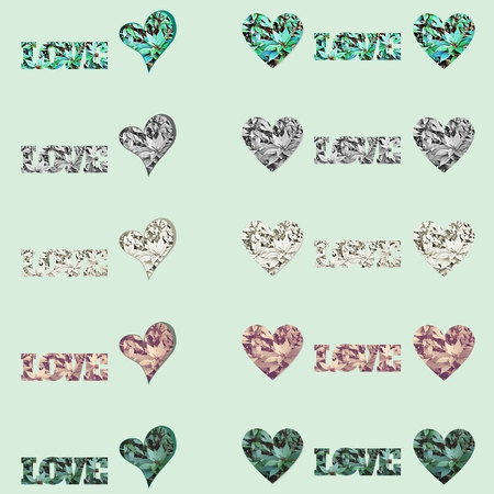 Background, border, texture or pattern with plants - Love theme