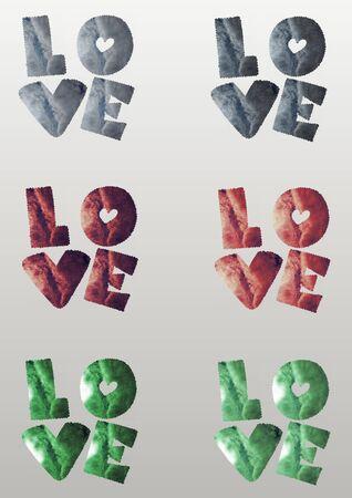 eden: Collage - Love Stock Photo