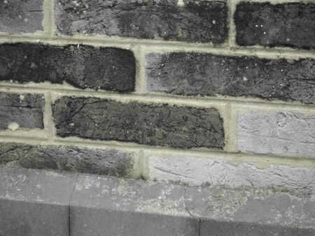 textile image: Texture of a wall with bricks detail - The texture is the feel, appearance, or consistency of a surface or a substance.