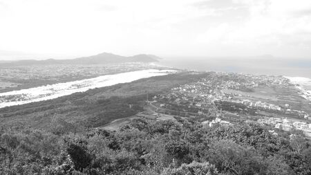 A beautiful scenery from the top of the mountain of the sea