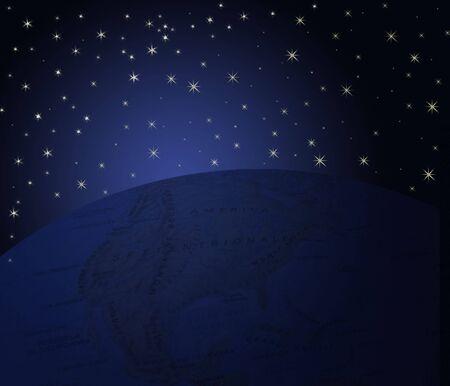 blackout:   Blackout night and starry sky