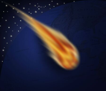 Comet that touches the ground