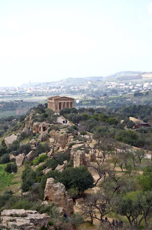 agrigento: Aerial view of the Valley of the Temples in Agrigento