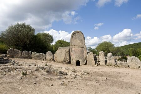 giants: Tomb of the Giants in a village in Sardinia antivi Stock Photo