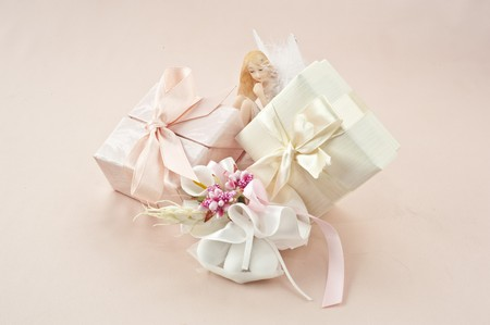 material to make favors for weddings, communions and baptisms Stock Photo - 7075308