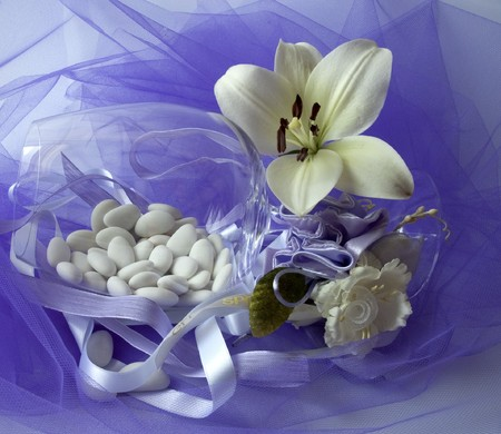 material to make favors for weddings, communions and baptisms Stock Photo - 7142858