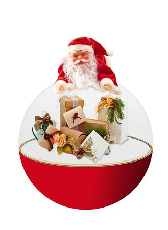 a doll of Santa Claus on a white background Stock Photo - 7839773