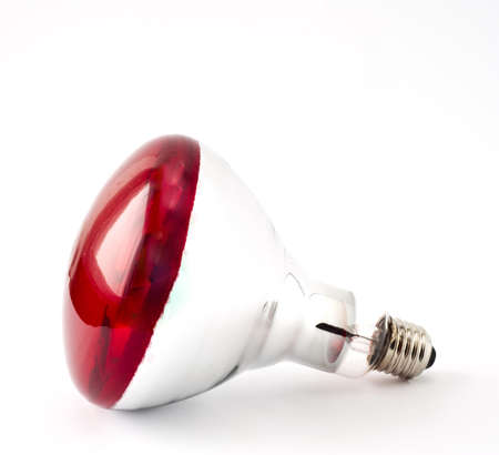 infrared: an infrared lamp on a white background