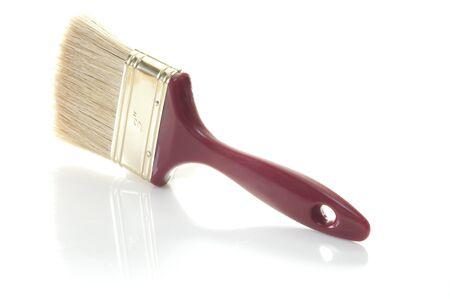brush paint: a large brush on a white background Stock Photo