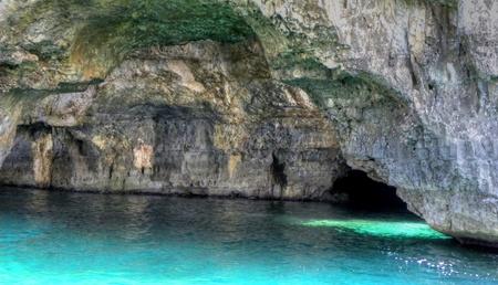 Sea cave in salento in Pugllia