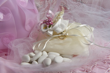 weeding Favors and wedding rings and bands for weddings and holidays Stock Photo - 8925411
