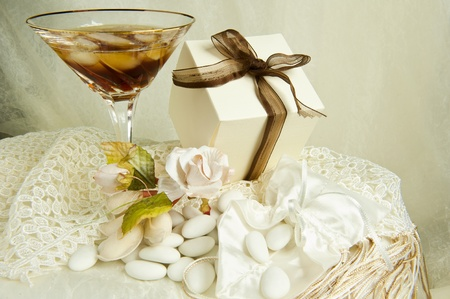 drink,weeding Favors and bands for weddings and holidays Stock Photo - 9030351