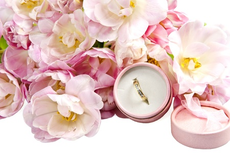 weeding Favors ,wedding rings and candy  for weddings Stock Photo - 9308525