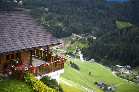 Overview of a valley in South Tyrol in Italy