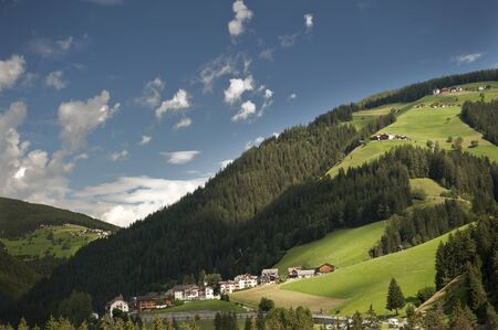 overview: Overview of a valley in South Tyrol in Italy