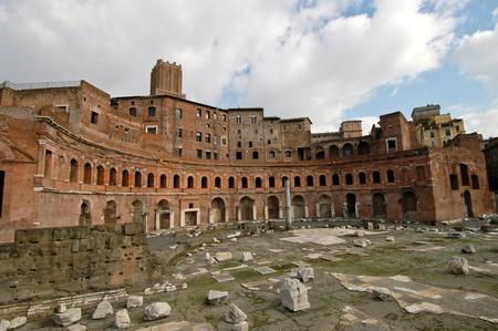Détail de l'amphithéâtre dans le Forum romain