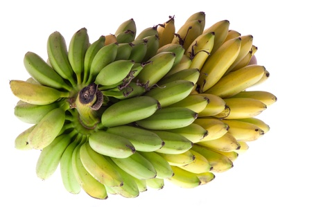 a bunch of bananas on white background 版權商用圖片